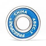 FREEDARE Bearings 608, ABEC 7 Bearings - Skateboard Bearings, Longboard Bearings, Skate Bearings(Blue,1 Set of 8