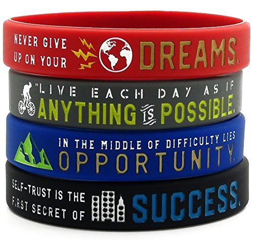 Inspirational Bracelets with Motivational Sayings -