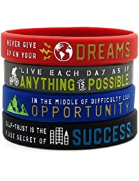 Inspirational Bracelets with Motivational Sayings -Anything is Possible, Success, Dreams, Opportunity