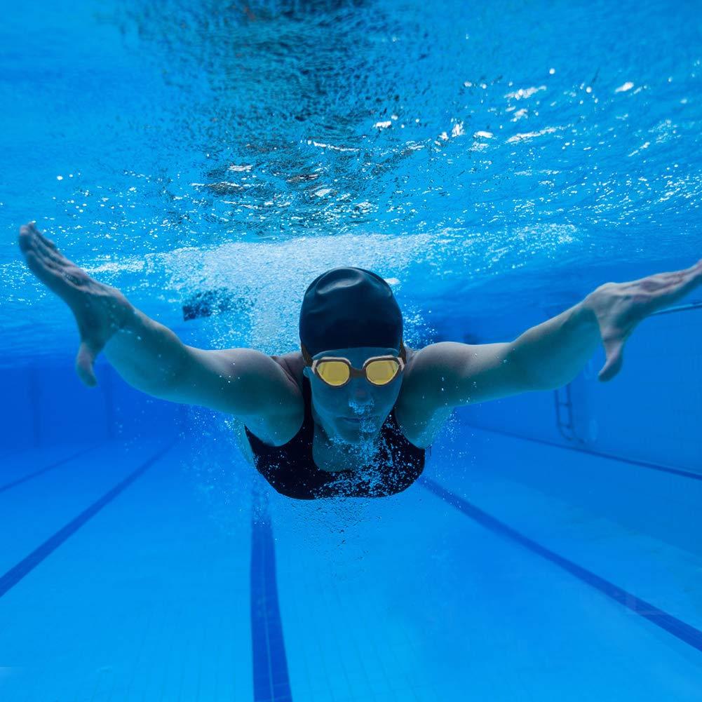 Ajustable Venda para Hombres Mujeres Ni/ños Gafas Nadar Piscina Antiniebla Protecci/ón UV Sin Fugas con Gorro de Ba/ño Enchufe de O/ído Clip seenlast Gafas de Nataci/ón