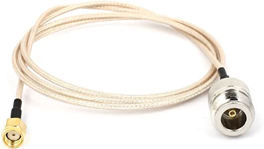 Tipo N hembra a conector RP-SMA F / M RG316 cable coaxial ...