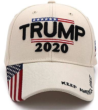 Trump Hat 2020 President Donald Trump Hats Keep America Great Hat with USA Flag Caps Embroidered KAG MAGA Adjustable Baseball Cap