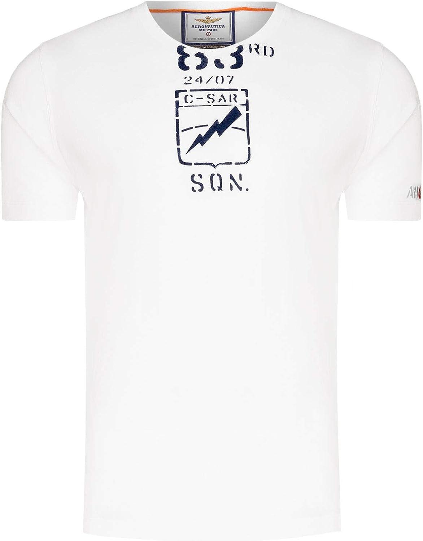 Aeronautica Militare T Shirt TS1609 Blanco, Hombre, Sudadera ...