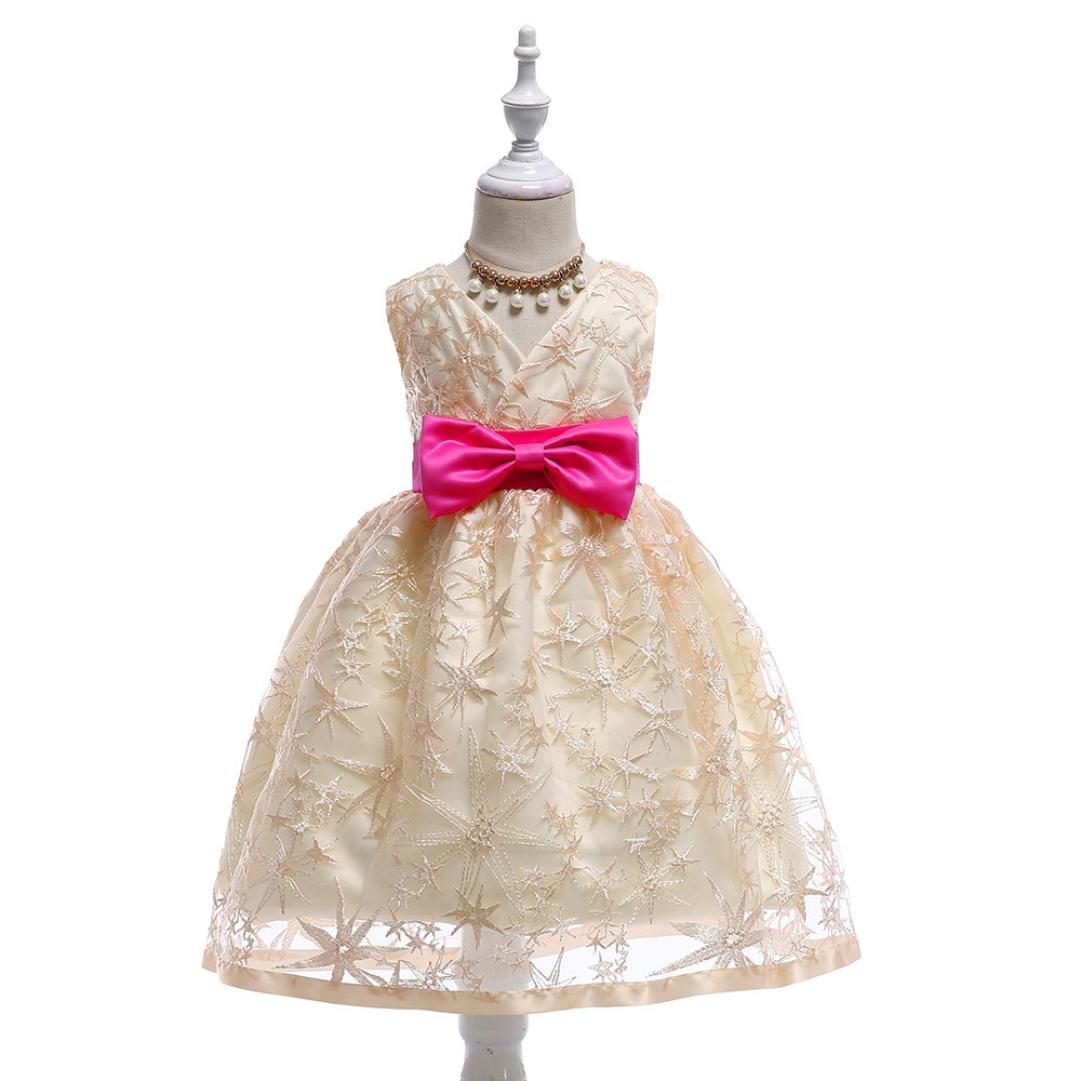 d8bcbb99c209 Amazon.com  JPOQW Toddler Kid Girl Formal Dress Pearls Little Girls ...