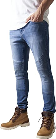 Urban Classics TB1436 Herren und Jungen Jeanshose Slim Fit Biker Jeans,  Five-Pocket Stretch 9ece3abda5