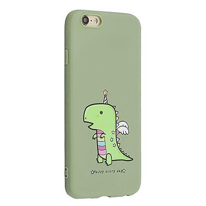305123bb5dd CUAgain Funda Compatible con iPhone 6s Plus/iPhone 6 Plus Silicona Dibujos  Motivo Mate Kawaii