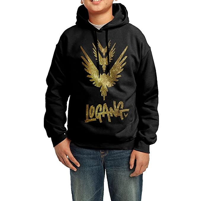 Nosese Duck Custom Logan Paul Parrot Pattern Sky Background Youth Hoodie