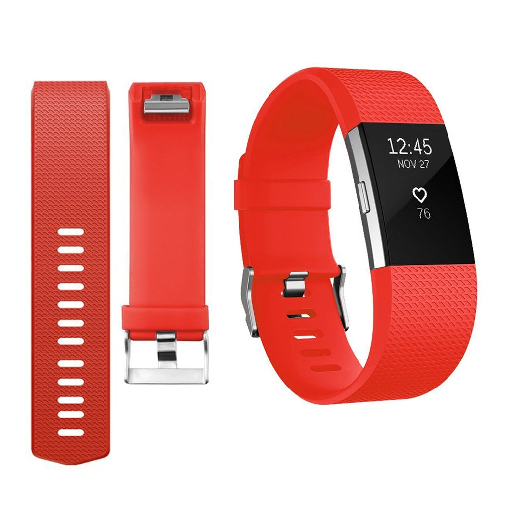 Soft Gel Silicone Bracelet Replacement Band for Fitbit Charge 2 Smartwatch Heart Rate Fitness Wristband Yoowei Fitbit Charge 2 Strap Bands Replacement