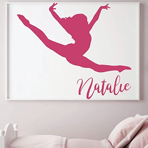 Personalized Gymnastic Wall Decal For Teenu0027s Bedroom Decoration   Girlu0027s  Vinyl Decor