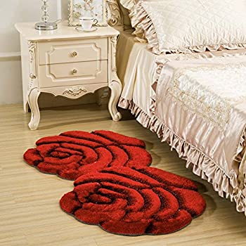 Amazon Com Rose Design Rugs Carpet Flower Shape Shaggy