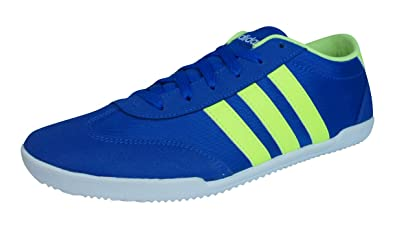 adidas neo trainers blue yellow
