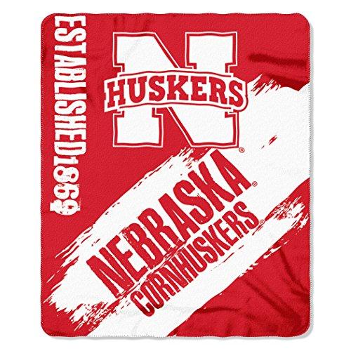 The Northwest Company NCAA Nebraska Cornhuskers Painted Printed Fleece Throw Blanket, 50