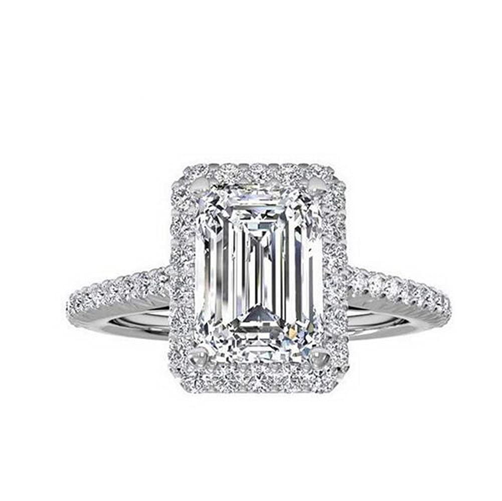 TenFit Jewelry Women's Ring 18k Gold Plated Square Cubic Zircon Engagement Ring 118 R118