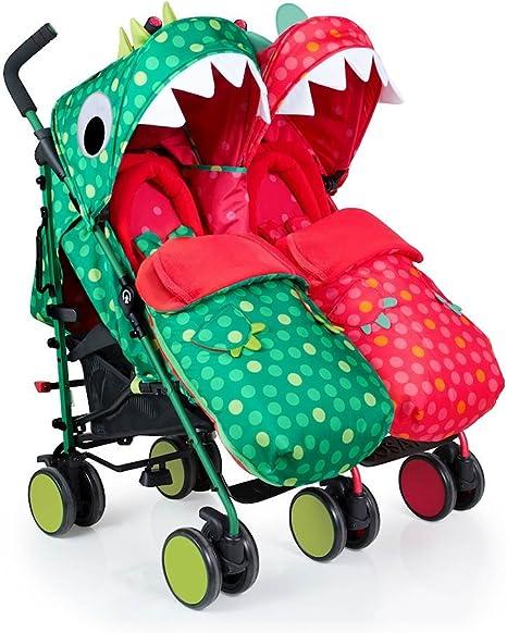 carrito gemelar para beb/és verde Happy Campers doble Cosatto Super Dupa Go