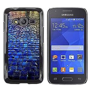Paccase / SLIM PC / Aliminium Casa Carcasa Funda Case Cover para - Cobblestones City Blue Rain Reflection - Samsung Galaxy Ace 4 G313 SM-G313F