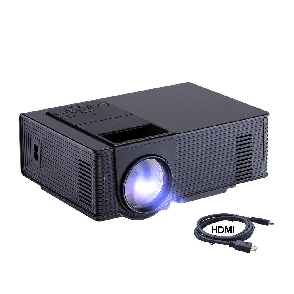 Dinly Video Projector, 1500 Lumens Portable Large Screen LED Projector, 1080P Home Cinema Theater Projection Machine with USB HDMI AV Support PC Laptop Xbox TV Box Smartphone