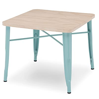 Delta Children Bistro Kids Play Table - Ideal for Arts & Crafts, Snack Time, Homeschooling, Homework & More, Eggshell Aqua with Driftwood : Baby