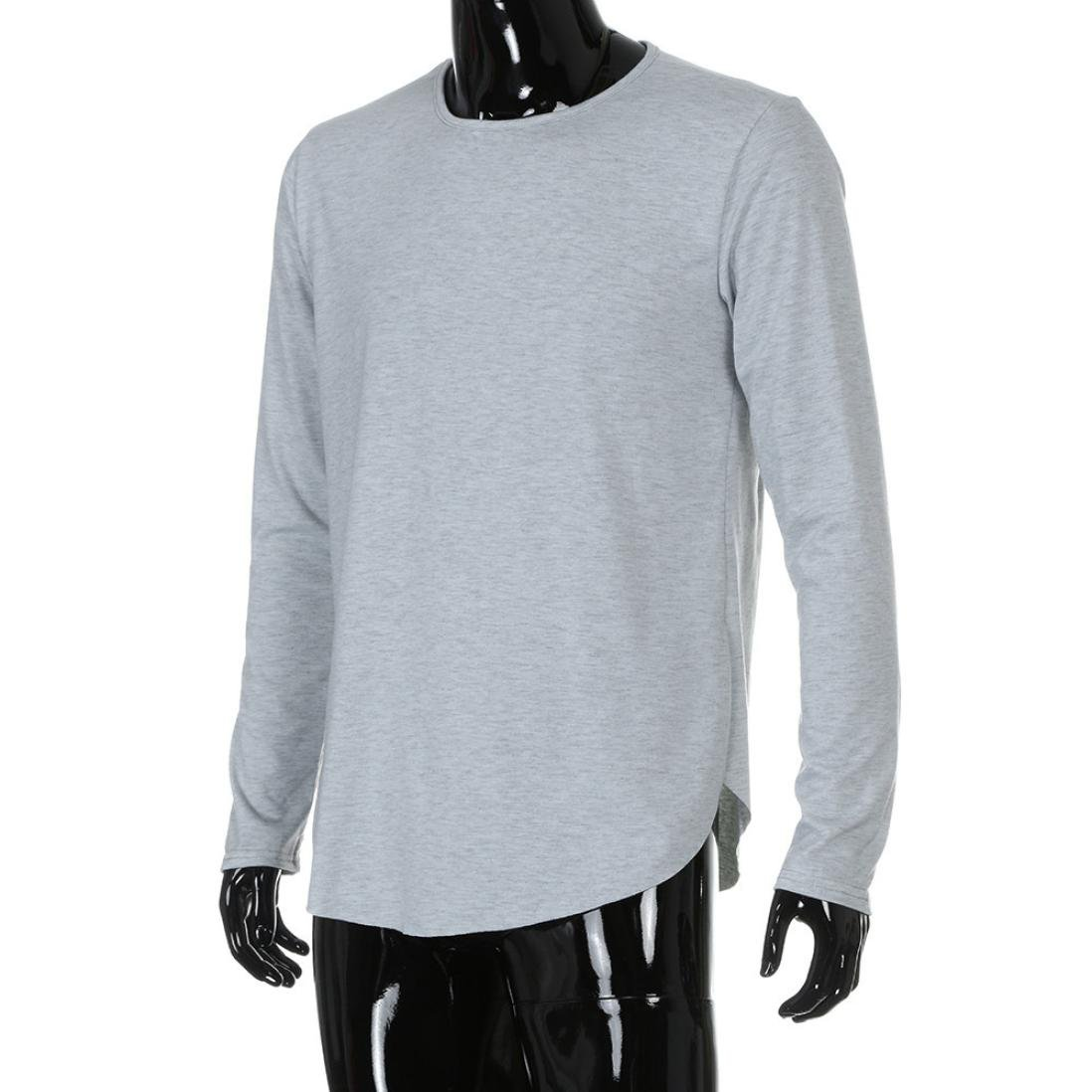 8c1238cbcb63 haoricu Mens Shirt, 2017 Men O Neck Long Sleeve Slim Fit Tee T-Shirt Casual  Tops at Amazon Men's Clothing store: