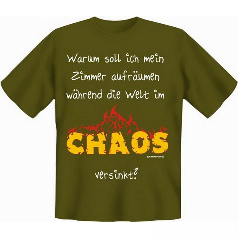 T-Shirt Teenie Teenager - Warum Zimmer aufräumen, wenn die Welt im Chaos  versinkt - Set inkl. Minishirt als Geschenk: Amazon.de: Bekleidung