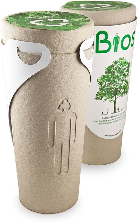 Urna Bios Urne biodégradable pour les cendres dun Paradis: Amazon ...