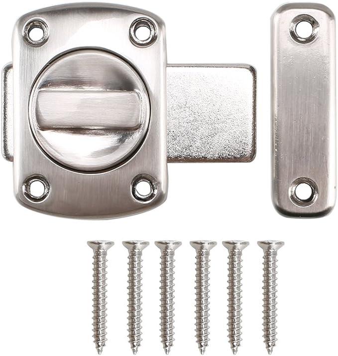 Dayree rotación cerradura de puerta pestillo para puerta del baño ...