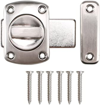 Dayree rotación cerradura de puerta pestillo para puerta del baño perno de la puerta aleación de metal cerradura puerta corredera con 6 tornillos de montaje: Amazon.es: Bricolaje y herramientas