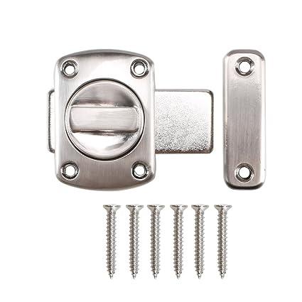 Dayree rotación cerradura de puerta pestillo para puerta del baño perno de la puerta aleación de