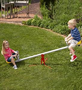 Durable Weather-Resistant Spinning Seesaw, Metal - 80''L x 24''H