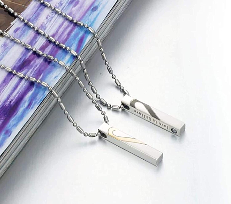 LOPEZ KENT Jewelry Men Women Stainless Steel Pendant Necklace Heart Puzzle Rectangular