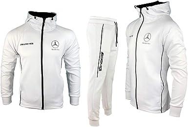 Survêtement Mercedes de été Logo Ensemble Blanc Rossa Furia