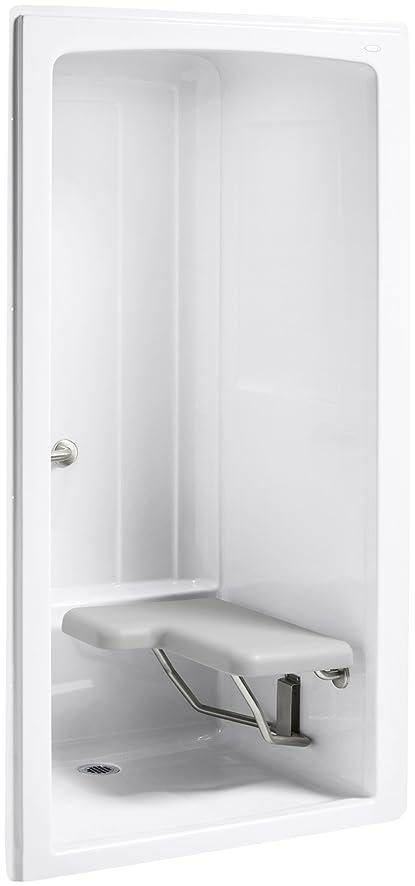 Kohler K-12100-C-0 Freewill One-Piece Barrier-Free Transfer Shower ...