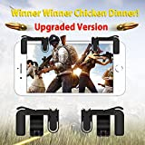 [Upgraded Version] Mobile Game Controller, OSSKY Sensitive Shoot and Aim Triggers Buttons for PUBG/Knives Out/Rules of Survival - L1R1 Cell Phone Game Trigger Joystick Gamepad for Android iPhone