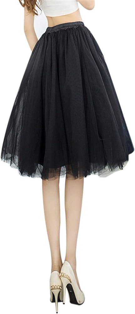 MIOIM® Falda Corto 6 Capa de Gasa Tul Falda Danza Ballet Falda A ...