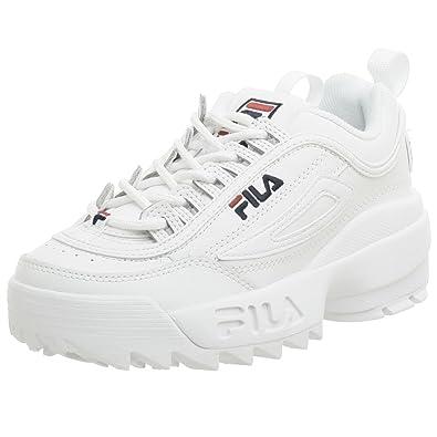 8c9d6978da4e Fila Youth Disruptor II Sneaker,White/Navy/Red,5.5 M US Big