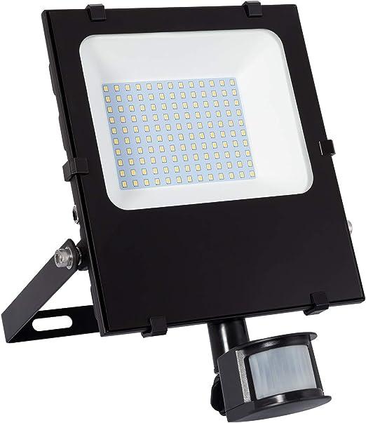 Foco Proyector LED SMD con Detector de Movimiento PIR 50W 120lm/W ...