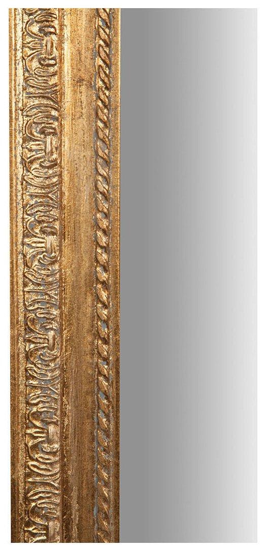 Specchio Specchiera da parete con cornice rettangolare in legno 35x2x90 cm finitura oro anticato da appendere
