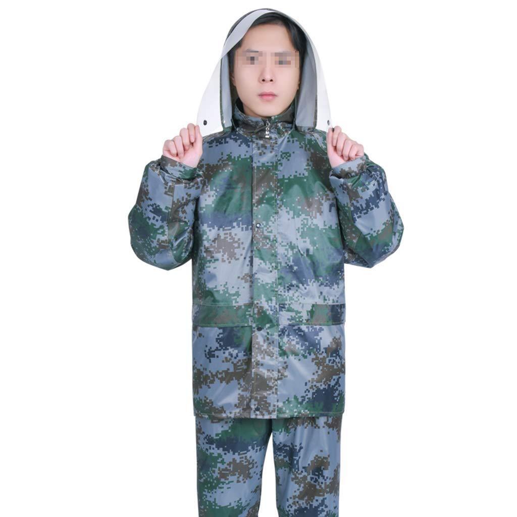XXXL LCPG Adulte Camouflage imperméable Costume imperméable Transparent tridiPour des hommesionnel Chapeau PVC Enduit imperméable Enduit imperméable Coupe-Vent météo Pluie Jour de Travail sur (Taille   XL)