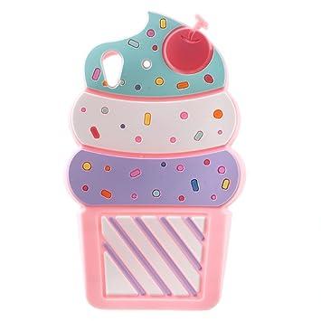3d Cherry Ice Cream Soft Silicone Phone Funda Fundas Carcasa ...