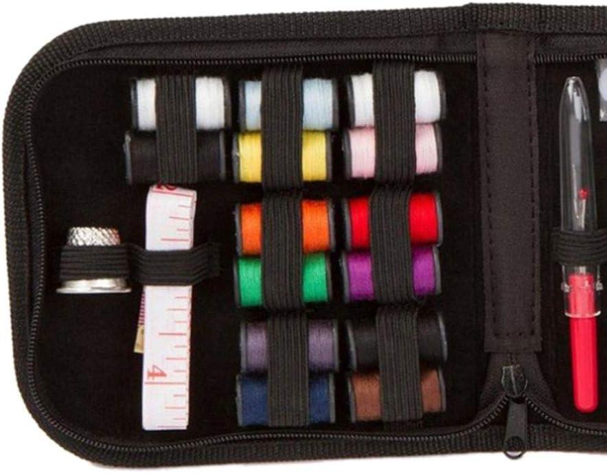 Topker 27pcs Mini Kit de Costura hogar del Recorrido del Hilo Tijeras de Costura Accesorios Estuche Color al Azar: Amazon.es: Hogar