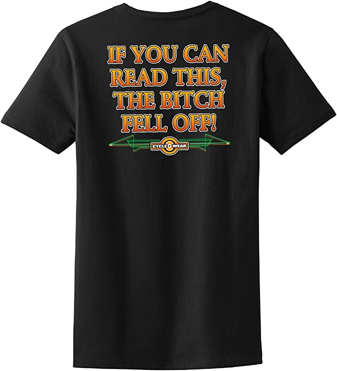 If You Can Read This The Bitch Fell Off Hoodie Funny Biker Motorcycle Sweatshirt