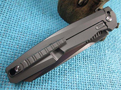 Twosun EDC No Screw Tenon-And-Mortise Work Titanium M390 Folding Knife TS88 by TwoSun (Image #6)