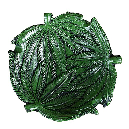 YSMYWM Resin Hempleaf Pot Leaf Weed Cigarette Smoke Ashtrays Cigar Tray Holder for Home Office Car