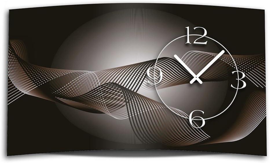 Digital Designer Art Abstract Black Abstract Modern Wall Clocks Wall Clock Silent No Ticking Dixtime 3d 0413 Amazon Co Uk Kitchen Home