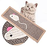 Afco Pet Hugs Cardboard Cat Scratch Mat Corrugated Safe Card Bed Claw Care Kitten Interactive Toy size 37cm x 12cm x 2cm (brown)