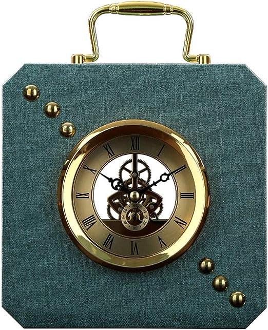 KJH Reloj de Mesa, Mantel Relojes, 23cm Altura Silenciosa For No ...
