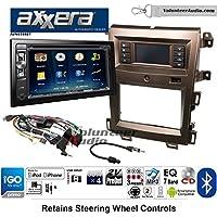 Volunteer Audio Axxera AVN6558BT Double Din Radio Install Kit with Navigation Bluetooth CD/DVD Player Fits 2011-2014 Edge (Bronze)