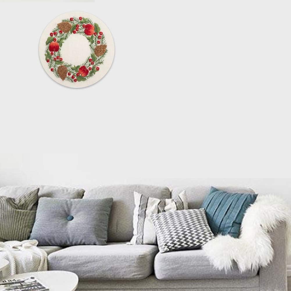 11CT Vorgedruckte Leinwand LHZBB Stickerei-Starter-Set-Stra/ße nach Schnee-Kreuzstich-Set mit M/öbeln/ähen handgefertigt Stickerei Ornament 40x50cm
