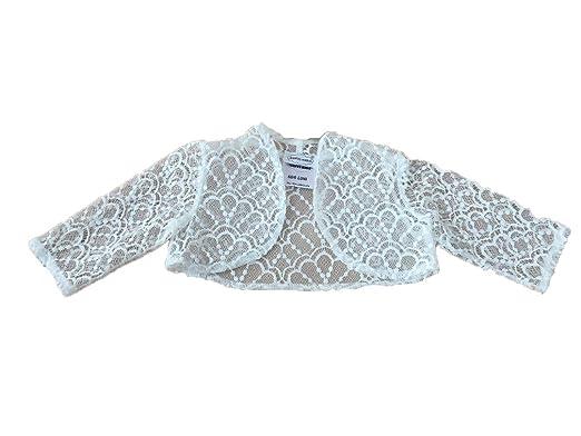 Soffi Kids M/ädchen Bolero Spitze Jacke aus Spitze Taufe Ivory