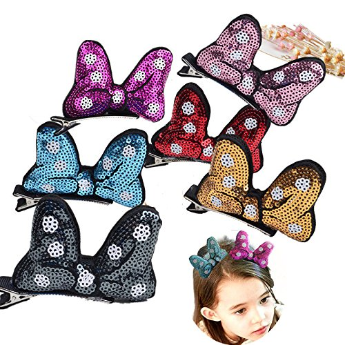 [Cute Sparly Sequins Glitter Rabbit Ears Bunny Alligator Hair Clips for Baby Girls] (Child Pretty Kitty Costumes)