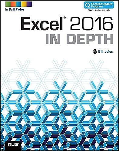 Excel 2016 In Depth (includes Content Update Program) 1, Bill ...